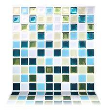 Tic Tac Tiles® - Premium 3D Peel & Stick Wall Tile in Glassy Peacock(10 sheets)