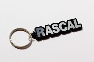 Bedford Rascal Keyring - Brushed Chrome Effect Classic Car Keytag / Keyfob