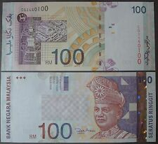MALAYSIA RM100 BANK NOTE ZETI  (CG 2440100) - UNC