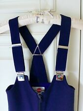 UNUSED Colmar Navy-Blue Boy/Girl Wool Blend ski salopette pant Combinaisons 32 Italy