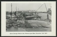1981 Storm Damage (Set Of 6) Weston-super-Mare Somerset Vintage RPPC