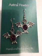 Handmade Amethyst Stone Costume Earrings