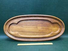 DANSK JHQ Teak Wood Large Oval Serving Tray Cutting Board Meat Cheese