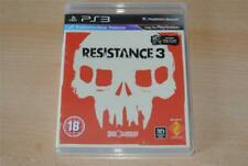 Resistance 3 PS3 Playstation 3 + Battle Los Angeles Blu Ray Disc