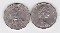1970 50 Cent Coin Australia Captain Cook Bicentenary 1770
