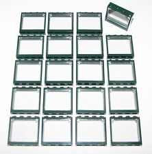 LEGO LOT OF 20 NEW DARK GREEN 1 X 4 X 3 WINDOWS GLASS TOWN CITY PARTS