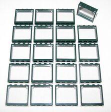 LEGO LOT OF 20 NEW DARK GREEN 1 X 4 X 3 WINDOWS GLASS TOWN CITY PARTS