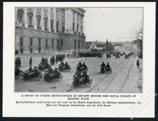 1922 Harley Davidson motorcycle & sidecar Madrid Spain Police photo article