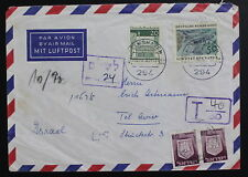 Israel, Germany, 1969 Postage Due, Taxed Cover #d285