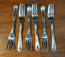 More details for vintage set six chromium plated pastry forks
