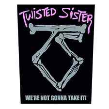 TWISTED SISTER Backpatch WE´RE NOT GONNA TAKE IT Rückenaufnäher  Heavy Metal