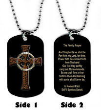 DOG TAG NECKLACE - Boondock Saints Family Prayer 1 Christian Religious God Jesus