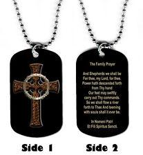 DOG TAG NECKLACE - Boondock Saints Family Prayer 1 Christian Religious God Jesus