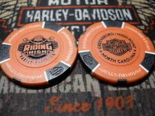 Orange & Black  Poker Chip Riding High Harley Davidson High Point, NC