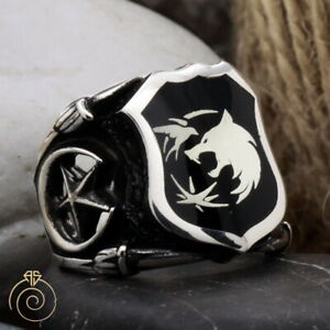 Geralt Of Rivia Witcher Wolf Seal Ring Shield Custom Made Claw Signet Fancy Ring