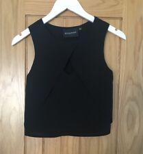 Women's MinkPink Crop Top Sexy Black Size XS