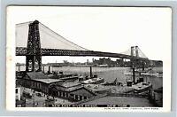 New York City NY, New East River Bridge, Vintage New York c1905 Postcard
