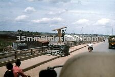 T011_024 35mm Slides 1969 Vietnam War Military Standing Guard  Local Streets