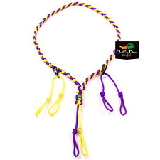 H&H LANYARDS CUSTOM PARACORD DUCK GOOSE GAME CALL LANYARD SMALL PURPLE GOLD