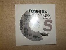 Toshiba Television Service Manual CD CDSMMAY02 *FREE SHIPPING*