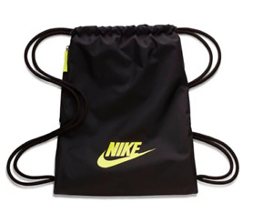 NEW Nike Heritage 2.0 Gym Sack Gymbag Drawstring Sport Bag Black NWT