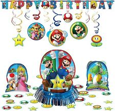amscan Super Mario Bros Hanging Childrens Birthday Party Pack Decoration Kit