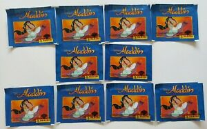 1994 Disney Panini Aladdin Album Sticker Packs Lot of 50 Packs New