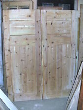 """2 Matching Pairs of cupboard doors 55"""" x 71"""" tall 1 3/8"""" thick - sold as pairs"""