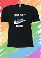 Disney Lilo and Stitch do it later funny Cute Men Women T-shirt Unisex V230
