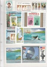 DOMINICA MNH stamps and blocks (CV $150 EUR117)
