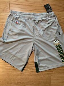 Nike NFL Green Bay Packers Breathe Shorts Sz XL NKC5-932Z Football Rodgers