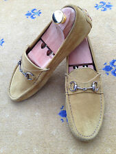 Gucci Para Hombre Zapatos De Gamuza Marrón Caballo Mocasines Controladores UK 6.5 nos 7.5 EU 40.5