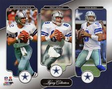 Dallas Cowboys ROGER STAUBACH, TROY AIKMAN & TONY ROMO Glossy 8x10 Photo Poster