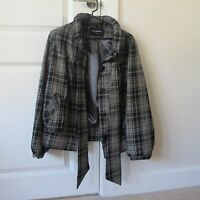 Ladies Atmosphere Black Checked Jacket Size 8