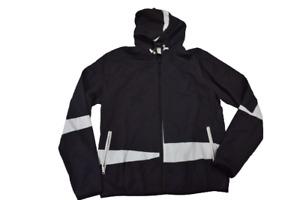 LRG Lifted Research Group Mens Zidane Black Windbreaker Jacket New M