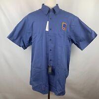 NWT Aldi Uniform Short Sleeve Blue Shirt By Van Heusen, Size XL 17 17.5