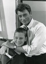JOHNNY HALLYDAY CONSEIL DE FAMILLE  1986 VINTAGE PHOTO ORIGINAL #1