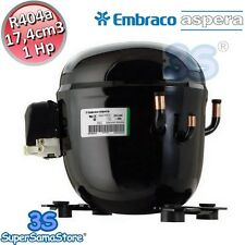 3S MOTORE Compressore R404A r507 1 Hp 17,4 cm3 Embraco Aspera NT6222GK CSR BOX