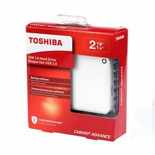 New Toshiba Canvio Advance 2TB Portable External Hard Drive 2 TB USB 3.0 White
