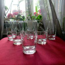 6 verres à orangeade en cristal d arques modèle Fleury taille épi