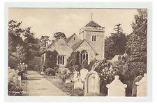 Buckinghamshire postcard - Stoke Poges Church Spire removed 1924