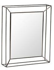 Bronze Metal Cut Out Geo Geometric Rectangle Mirror NEW 65 X 55 X 12cm