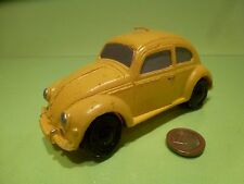 VINTAGE OLD CANDLE VW VOLKSWAGEN BEETLE OVAL - YELLOW L 14.5cm - GOOD CONDITION