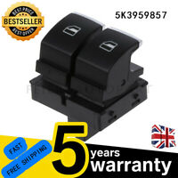 FOR VW CADDY GOLF TOURAN 2 DOOR DRIVERS SIDE ELECTRIC WINDOW SWITCH #5K3959857