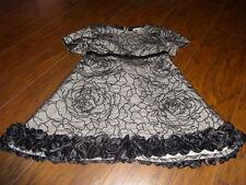 BOUTIQUE TRISH SCULLY CHILD GORGEOUS BLACK FLORAL DRESS 6X