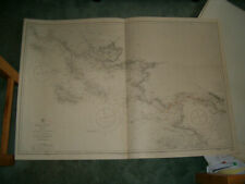 Vintage Admiralty Chart 2646 WEST FRANCE - BOURGNEUF to ILE DE GROIX 1917 edn