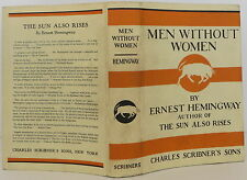 ERNEST HEMINGWAY Men Without Women INSCRIBED FIRST EDITION