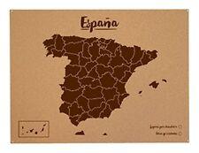 Mapa d'Espagne de XL En liège Naturel Marqueurs Pour Signaliser vos Voyage
