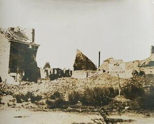 LARGE ORIGINAL WW1 British press photo British army sign on Ypres Road 25x21cm
