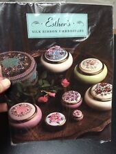 "New in Plastic ESTHER""S SILK RIBBON EMBROIDERY Book"